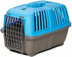 Pet Carrier: Hard Sided Dog Carrier Cat Carrier Small Animal Carrier in Blue $22.99