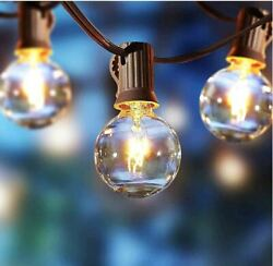 20 feet LED indoor Outdoor G40 String Light Commercial Hanging Lights Warm White