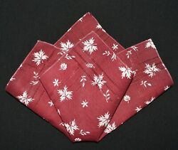 vintage handkerchief MAROON scent to carry SHABBY HOME CHIC open work CHARMER $8.00