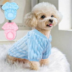 Pet Clothes Small Dog Fluffy Coat Puppy Cat Cute Sweater Winter Warm Jacket # C $8.85