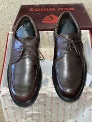 RED WINGS Mens 12 EE Brett 4075 Brown Leather Comfort Oxfords New $30.00