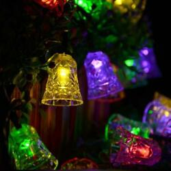 16ft Outdoor Strings Solar Lights Bell Shaped 20 LED for Xmas Party Home Lawn