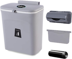 Kitchen Compost Bin Hanging Small Trash Can Mountable Indoor Compost Bucket $38.42