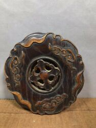Collectibles Chinese Rosewood Wooden Base Statue Asian Antiques Carved Ornament $39.99