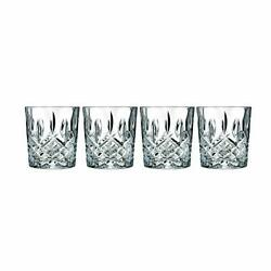 Double Old Fashioned Glasses Waterford Markham Scotch Whiskey Crystal Set of 4 $61.99