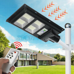 Solar LED Street Light Commercial Outdoor IP67 Area Security Road Lamp Dusk D