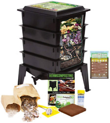 Worm Factory 360 Worm Composting Bin Bonus What Can Red Wigglers Eat? Infograp $227.78