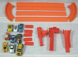 Micro Lot of 9 Mini Cars amp; Track Pieces $19.99