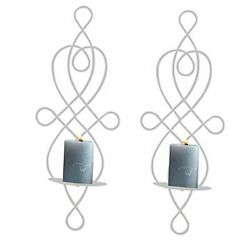 Wall Sconce Elegant Wall Sconces Set of Two Hanging Candle Holders for White $29.15