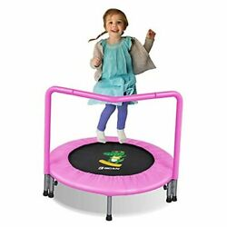 36#x27;#x27; Mini Foldable Trampoline with Handle for Kids Toddler 3#x27; Super Pink $132.14