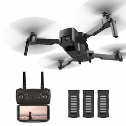 Foldable RC Drone with Camera 4K Quadcopter APP Control 360° Rotation 3 Batterie $33.99