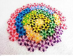 DIY Paper Quilling Colorful Handmade Flowers for greeting card Art deco Lot 25 $8.99
