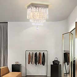 Cainjiazh Modern Chandelier Square Crystal Ball Ceiling Light Fixture Mini Re... $49.76