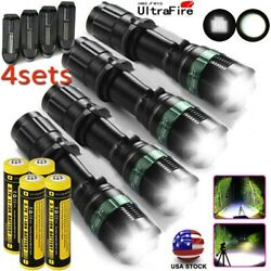 US 990000Lumens Tactical Zoomable Focus LED Flashlight Super Bright Torch Lights $14.07
