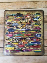 Fishing Lure Decor Sign 12.5x14 from Hobby Lobby $15.00