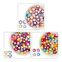 Pack of 100 Colorful Mini Beads Acrylic Flat Beads for DIY Bracelets Necklaces $3.64