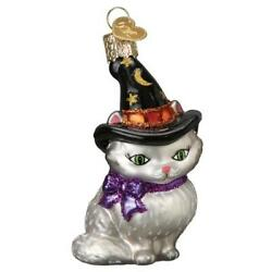 Old World Christmas WITCH KITTEN 26089 N Glass Ornament w OWC Box $12.59