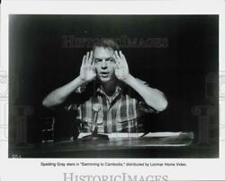 Press Photo Actor Spalding Gray in quot;Swimming in Cambodiaquot; Movie hcq24056 $13.88