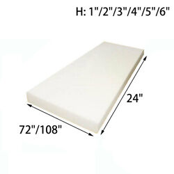 High Density Upholstery Foam Seat Padding Cushion Replacement 24quot;x72quot; 24quot;x108quot; $21.49