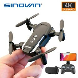 Sinovan Mini Foldable Drone 2.4G WIFI FPV RC Helicopter with 1080P 4K HD Camera $74.99