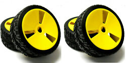 1 8 Scale On Road Nitro Electric Buggy RC Wheels and Tyres Tires Disc Yellow x 4 $28.28