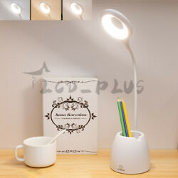Dimmable Reading Desk Lamp LED Light Table Beside Touch Sensor USB Rechargeable $14.95