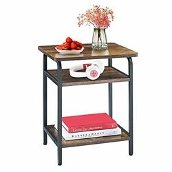 Mr IRONSTONE Small End Table for Living Room Modern Bedroom Nightstand 3 Tier... $56.53