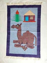 2x3 Camel Wall Hanging Rug Framed Wall Art For Living Room Tapestry Hanging $99.00