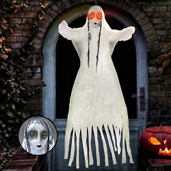 YOPINSAND Halloween Hanging Ghost Decorations 60 Inch Animated Skeleton with $12.85