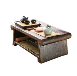 Folding Low Floor Table Modern Compact Coffee Table Wooden Japanese Tea Table $199.99