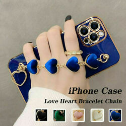Cute Shockproof Love Heart Strap Case Cover For iPhone 13 12 11 Pro Max XS XR 8 $9.99