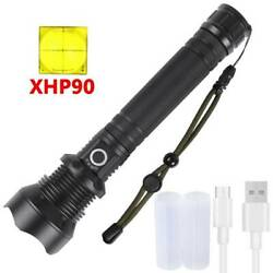 990000LM XHP50 70 90 LED Zoom USB Rechargeable Flashlight Focus Bright Torch USA $14.09