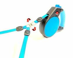 2 Dog Retractable Leash 360 Degree No Tangles 18 ft Total Distance with $41.76