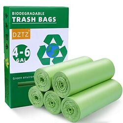 5 Rolls 4 6 Gallon Biodegradable Garbage Bags 100 Count Compostable Trash Bags $18.19