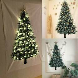 Christmas Tree Fabric Tapestry Wall Hanging For Living Room Bedroom Xmas Decor $13.69