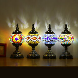 Stained Glass Retro Turkish Moroccan Romantic Table Lamp Home Bar Decor Gifts $40.99