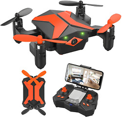Drone with Camera Drones for Kids Beginners RC Quadcopter with App FPV Video V $73.99