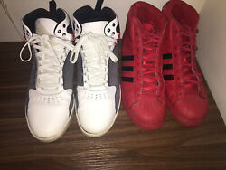 ADIDAS SHOES LOTS OF 2# Size 12 amp; 11.5 Pre owned $40.00