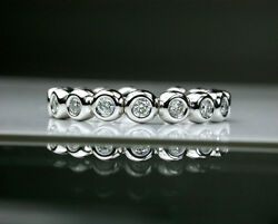 Rounded Bubbles - 18K(750) white gold diamond design band