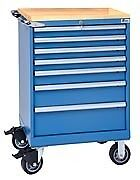 Lista Xsst0750 0701m Bt St750 7 Drawer Mobile Storage Cabinet With Butcher Bl