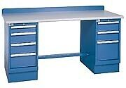 Lista Xstb42 72bt 72x30 Technical Workbench 2 Pedestal Cabinets 7 Drawers Woo