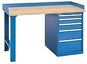 Lista Xswb40 60bt 60 X 30 Industrial Workbench 2 Cabinets 5 Drawers Wood Top