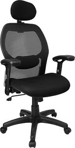 Mesh Executive Computer Office Desk Chair With Headrest