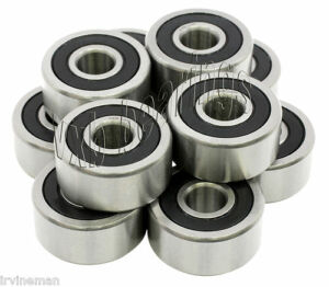 Premium Quality Lot 10 Sealed Radial Ball Bearing R16rs 1 x 2 x 1 2 inch R16 2rs