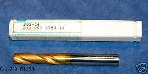 3 8 Solid Carbide Drill Tin Coated Metal Removal c 1 7 2 fr153 vs