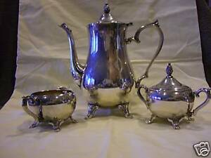 Antique International Silverplate Coffee Cream Sugar Set