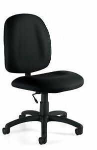 Black Armless Task Computer Office Desk Chairs New