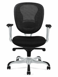 Black Soft Mesh Ergonomic Computer Office Desk Chair