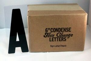 6 Condensed Changeable Sign Letters Printed On 6 7 8 Clear Flex Plastic Panel