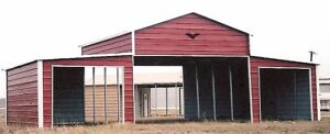 42x21 Stable Barn Metal Carport Free Delivery Installation prices Vary